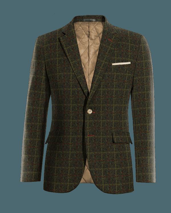 Grünes kariertes Sakko aus tweed