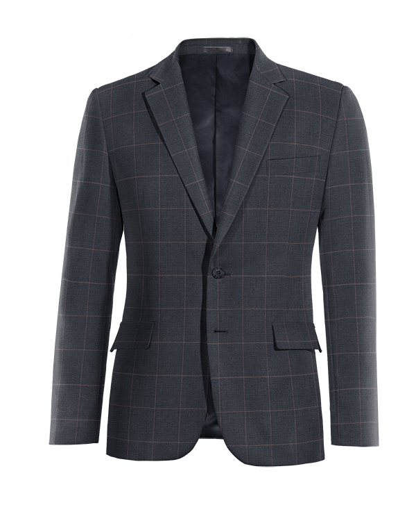Blue checked wool Blazer