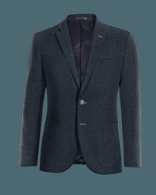 Blaues Sakko aus tweed