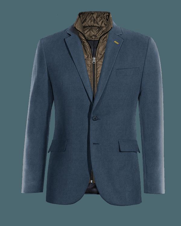 Blaues Sakko aus Wolle mit herausnehmbarem Brusteinsatz