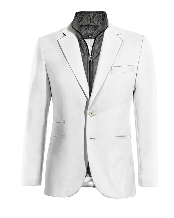 White linen removable gilet Blazer