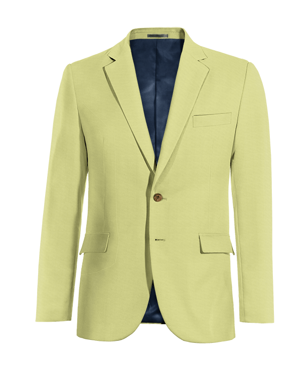 Green cotton Blazer