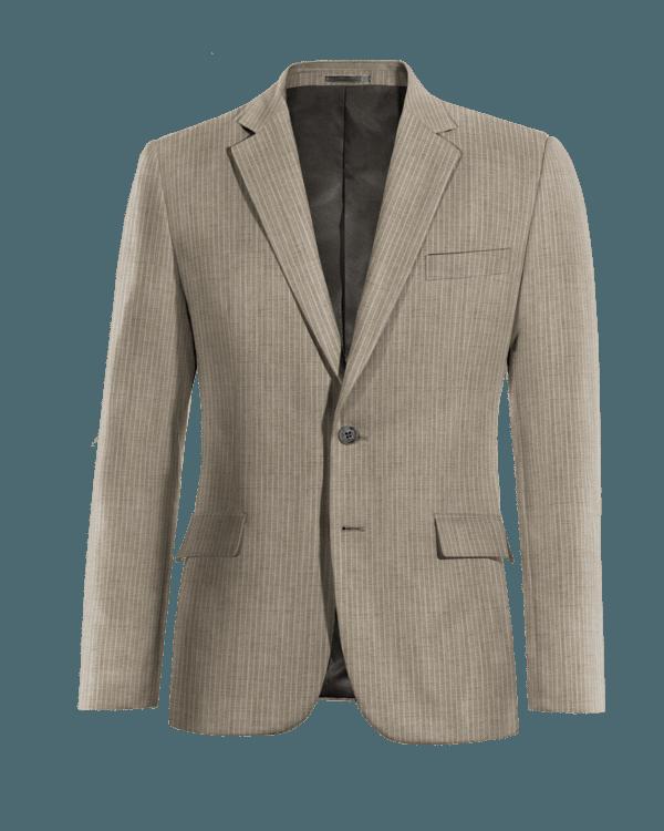 Graues gestreiftes Sakko aus Wolle
