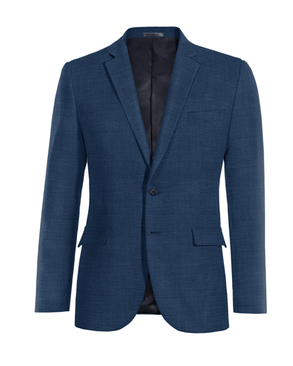 Americana azul de lana