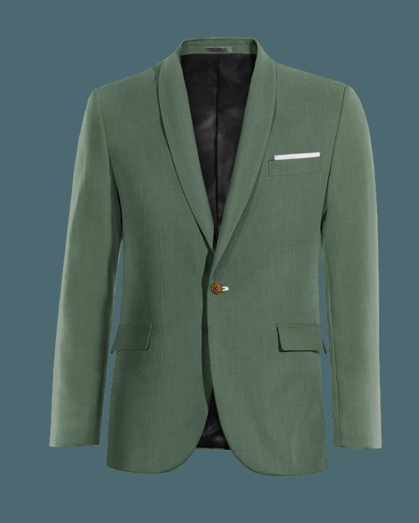 Green wool Blazer