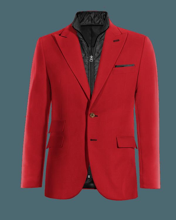 Giacca rossa di Lana con Gillet Removibile