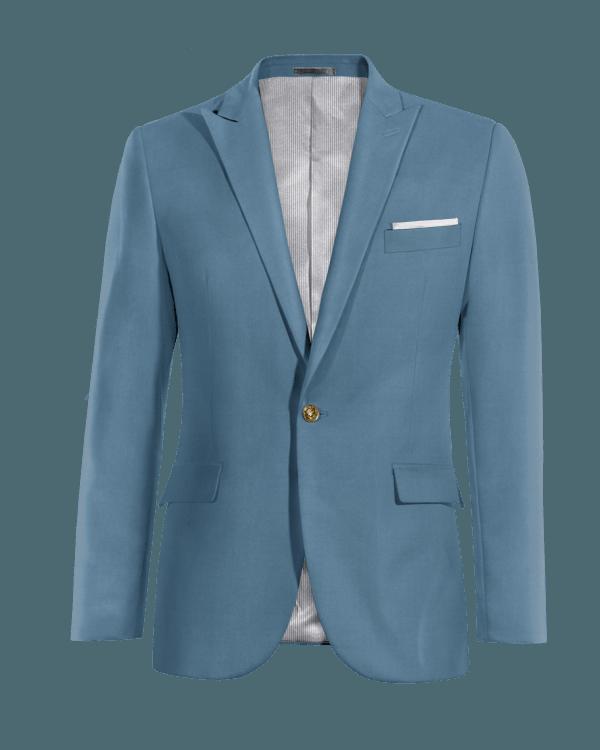 Veste bleue en Coton