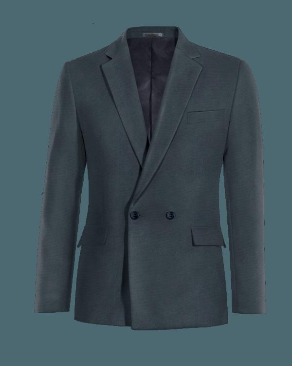 Veste bleue croisée en Coton