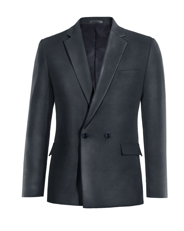 Blue double breasted wool Blazer