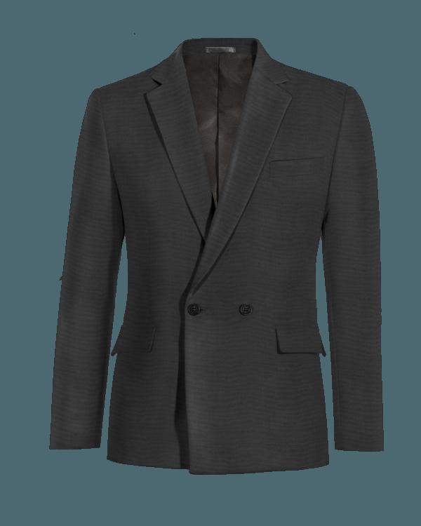 Schwarzes zweireihiges Sakko aus Wolle