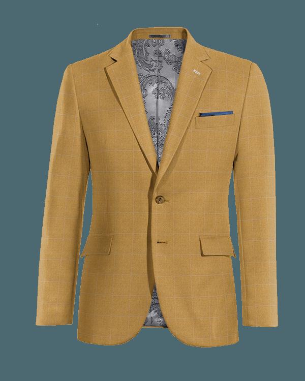 Veste marron à carreaux 100% laine