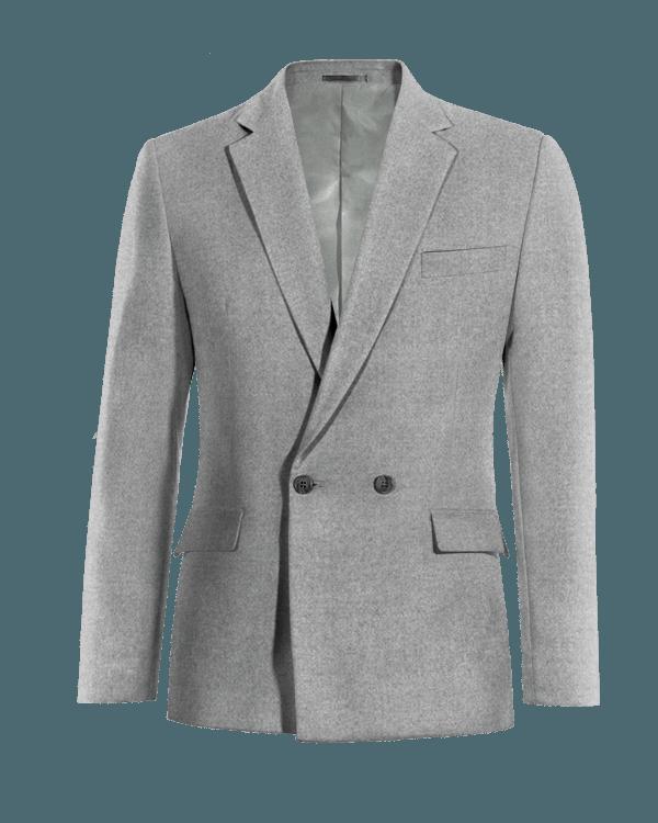 Graues zweireihiges Sakko aus Wolle
