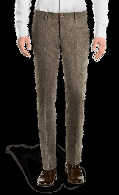 Pantalon En Marron Coupe Tweed Cintrée 7yfvIgb6Y