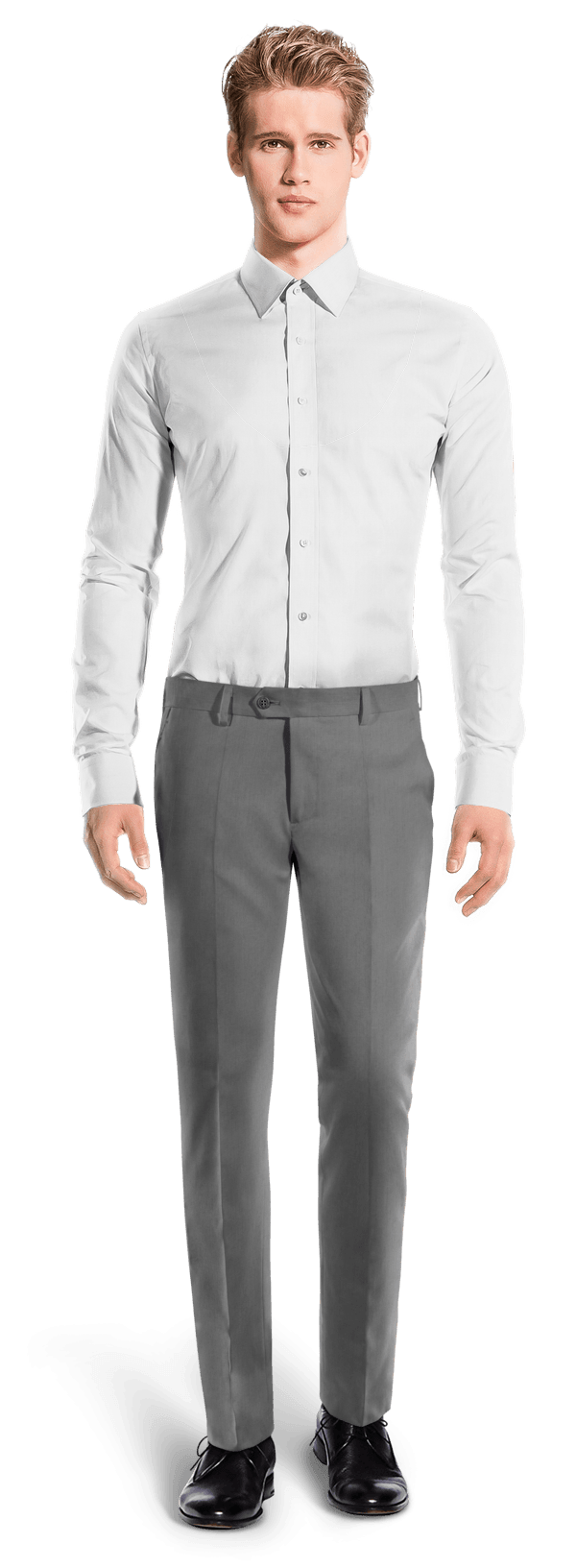 Grey slim fit wool Pants