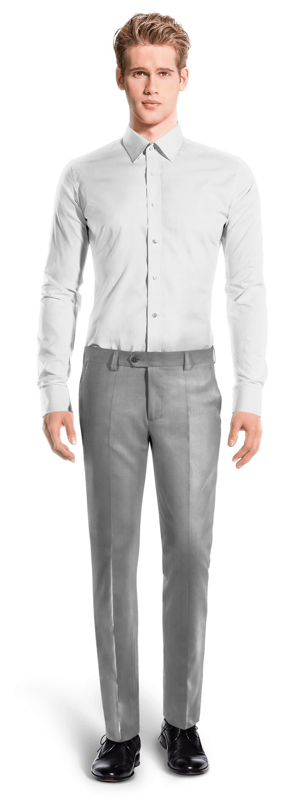 Grey slim fit polyester Pants