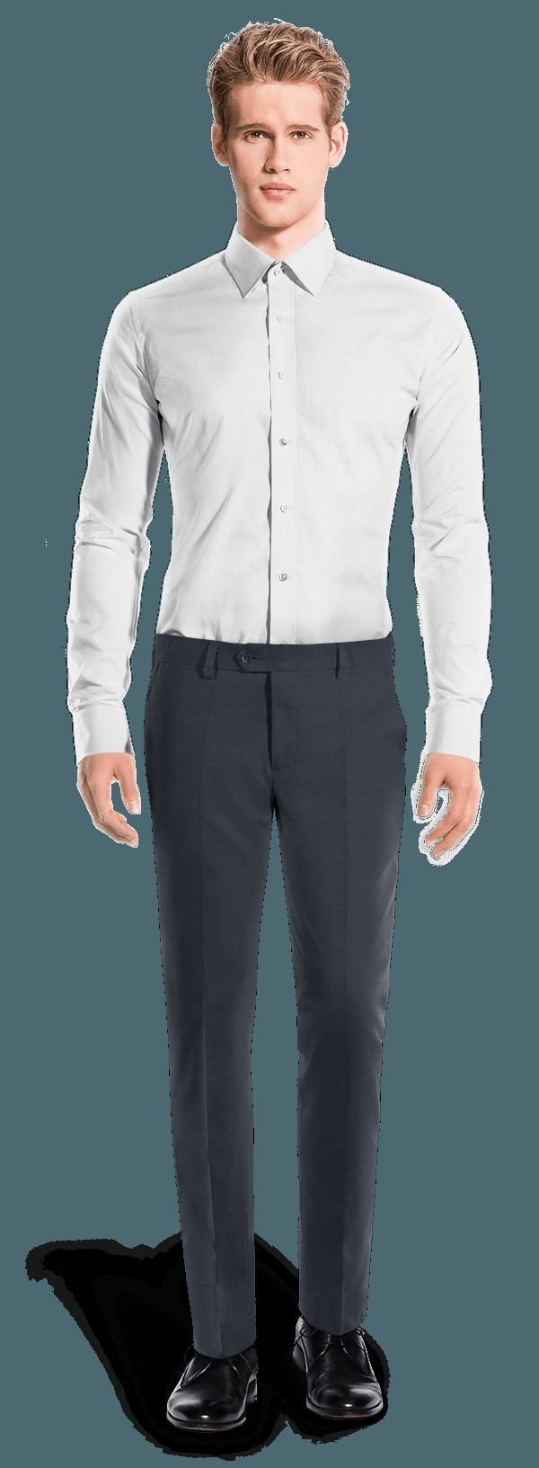 Pantaloni slim fit blu di Lana