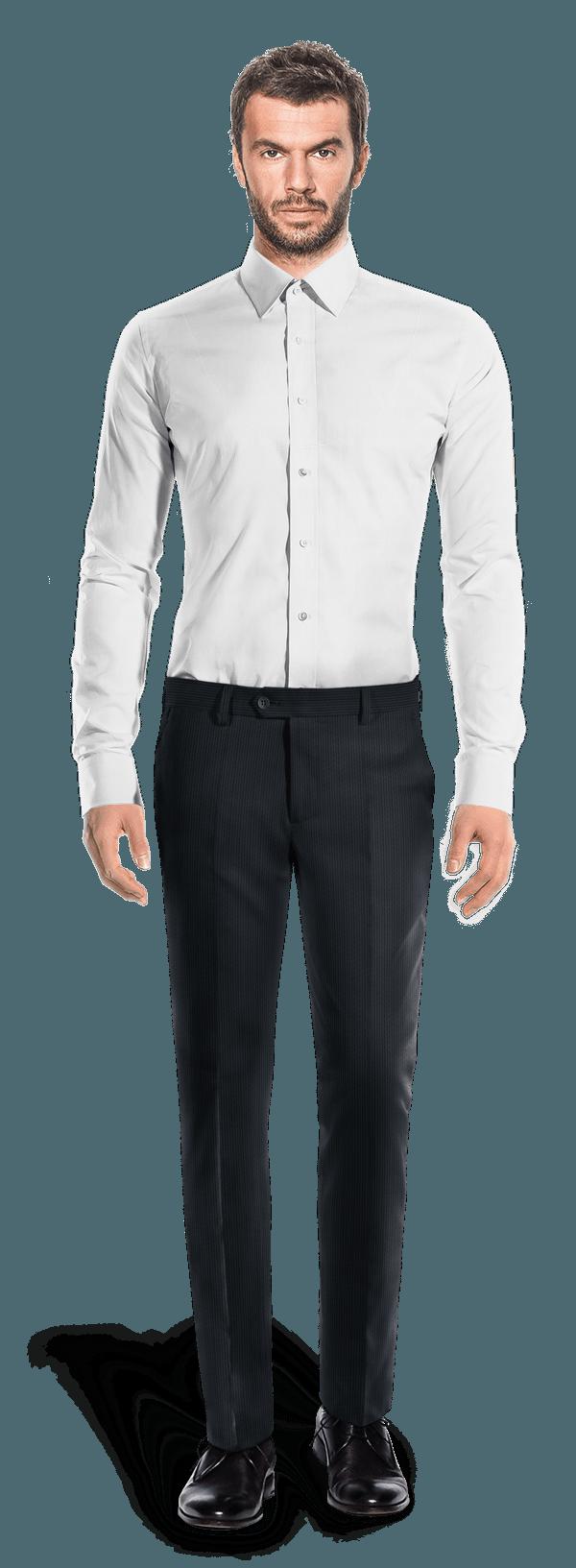 Blaue tailliert Hose aus Cord