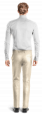 Ligth slim fit polyester Pants-View Back
