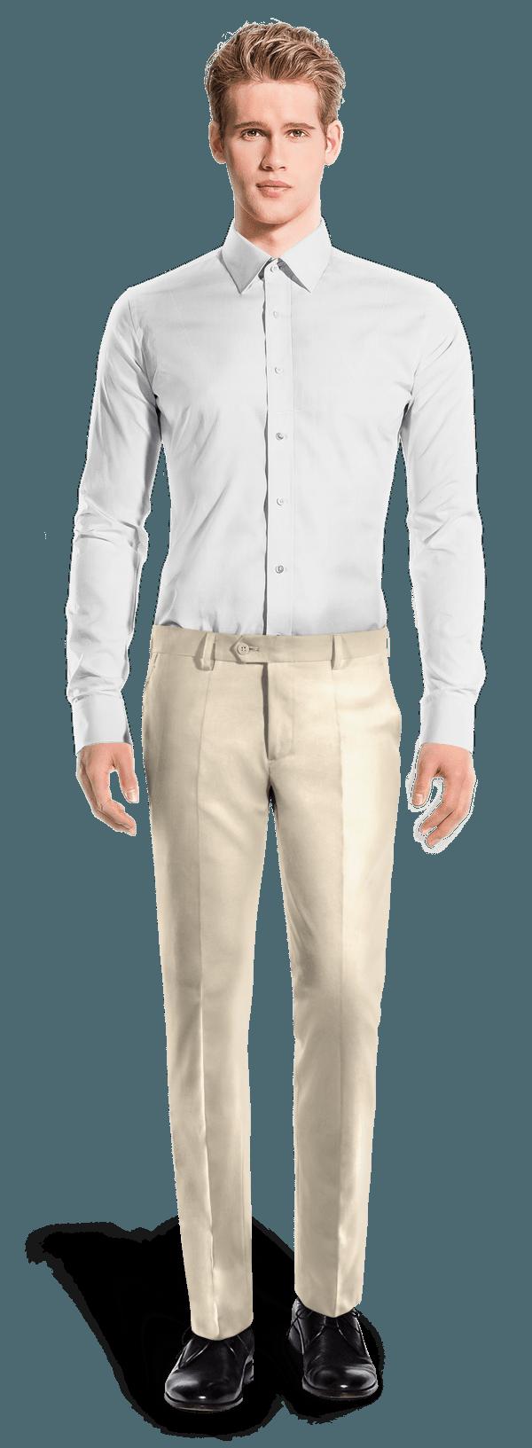 Pantaloni slim fit chiaro di Poliestere