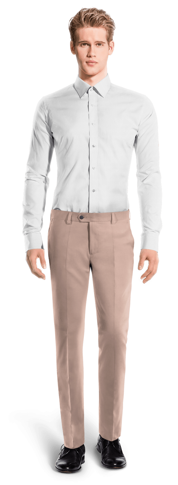 Pink slim fit wool Pants