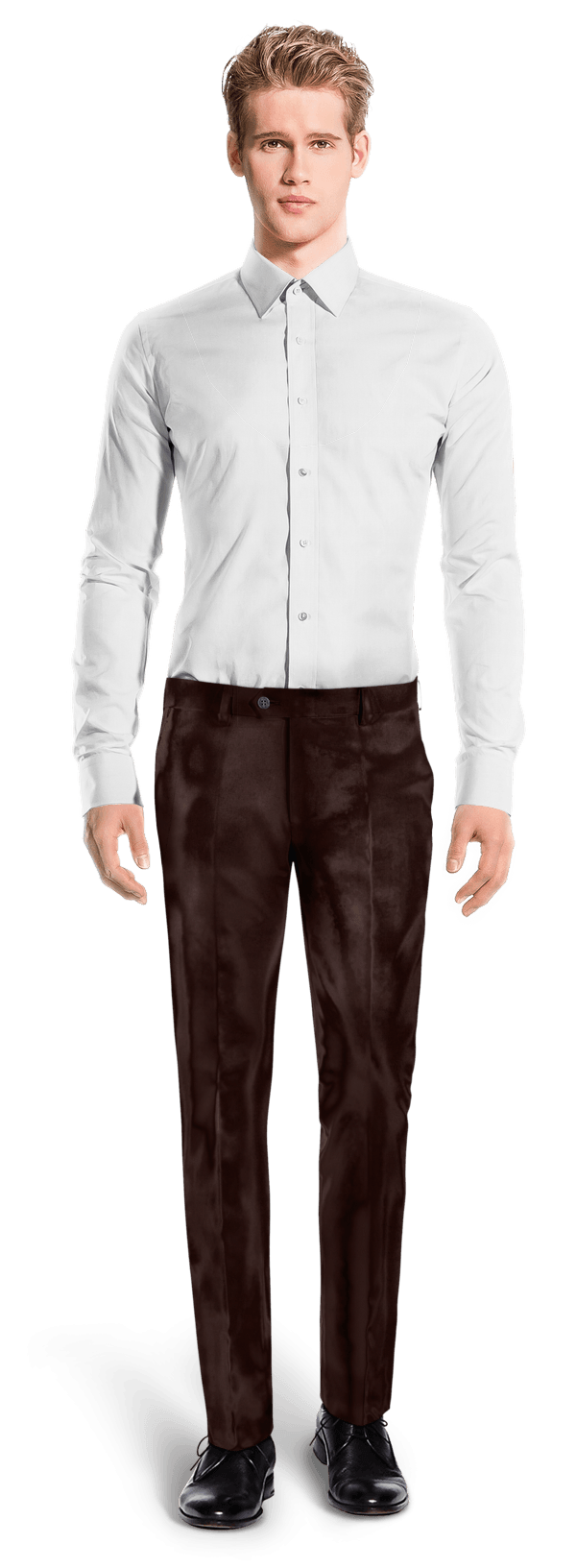 Brown slim fit velvet Trousers
