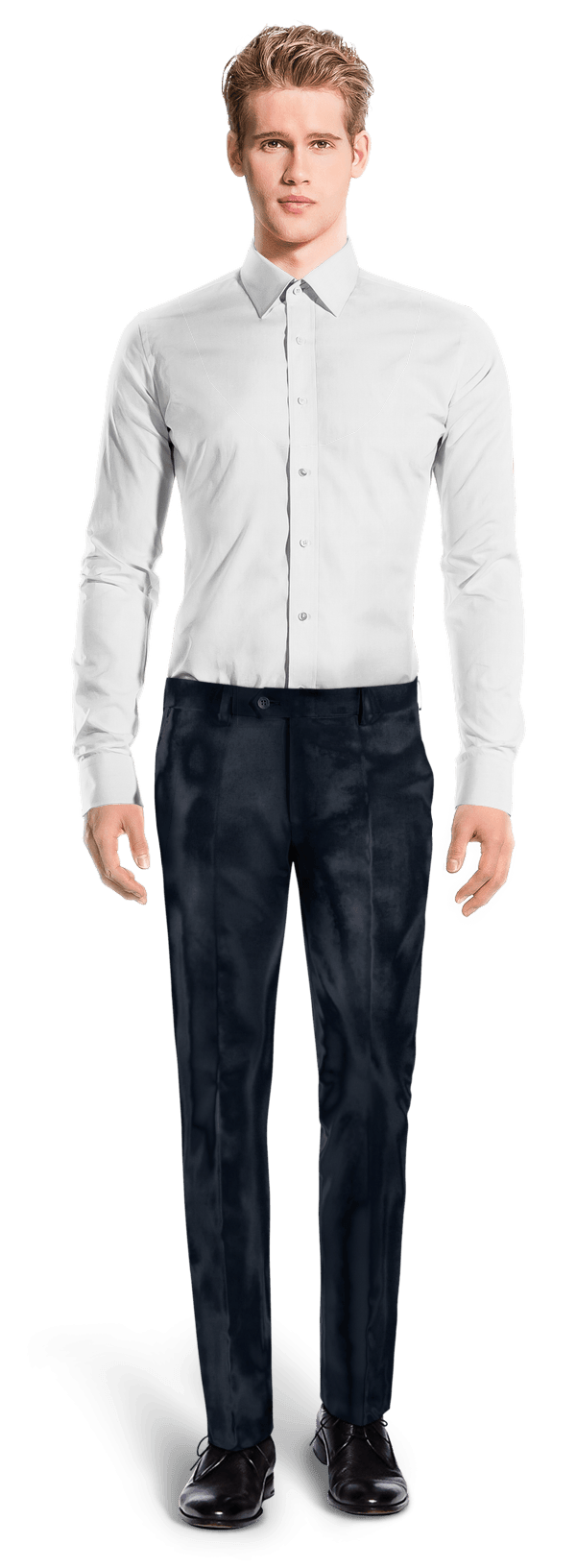 Blue slim fit velvet Trousers