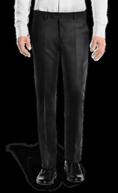 2f4a7616bb Pantalón negro de corte recto de Pana-Vista Frontal