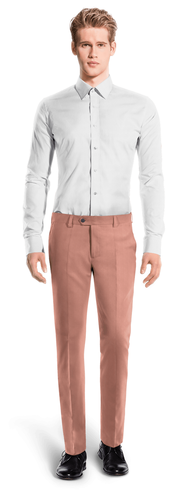 Pink slim fit Chinos