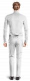 White straight fit linen Pants-View Back