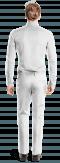 белые льняные стандартные брюки-Вид сзади