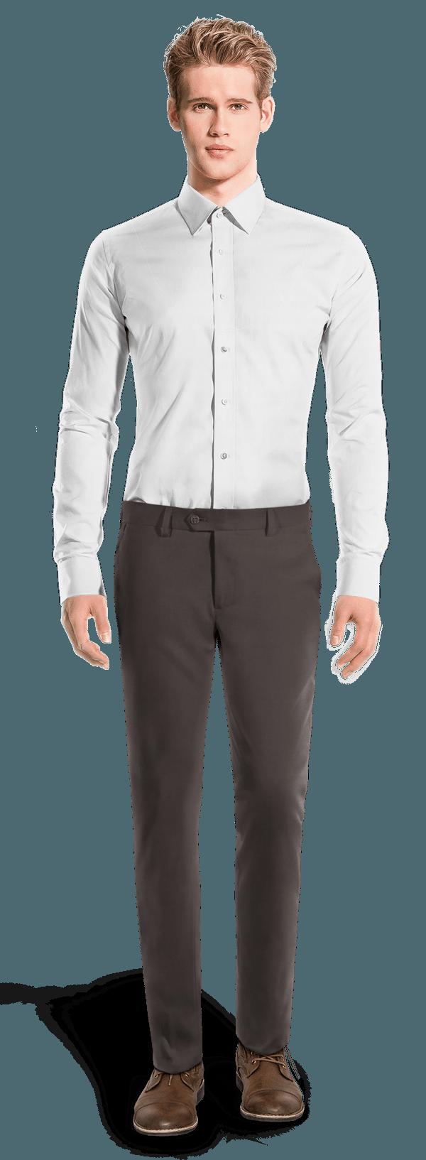 Chino gris coupe cintrée