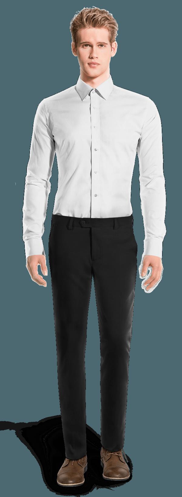 Chino noir coupe cintrée
