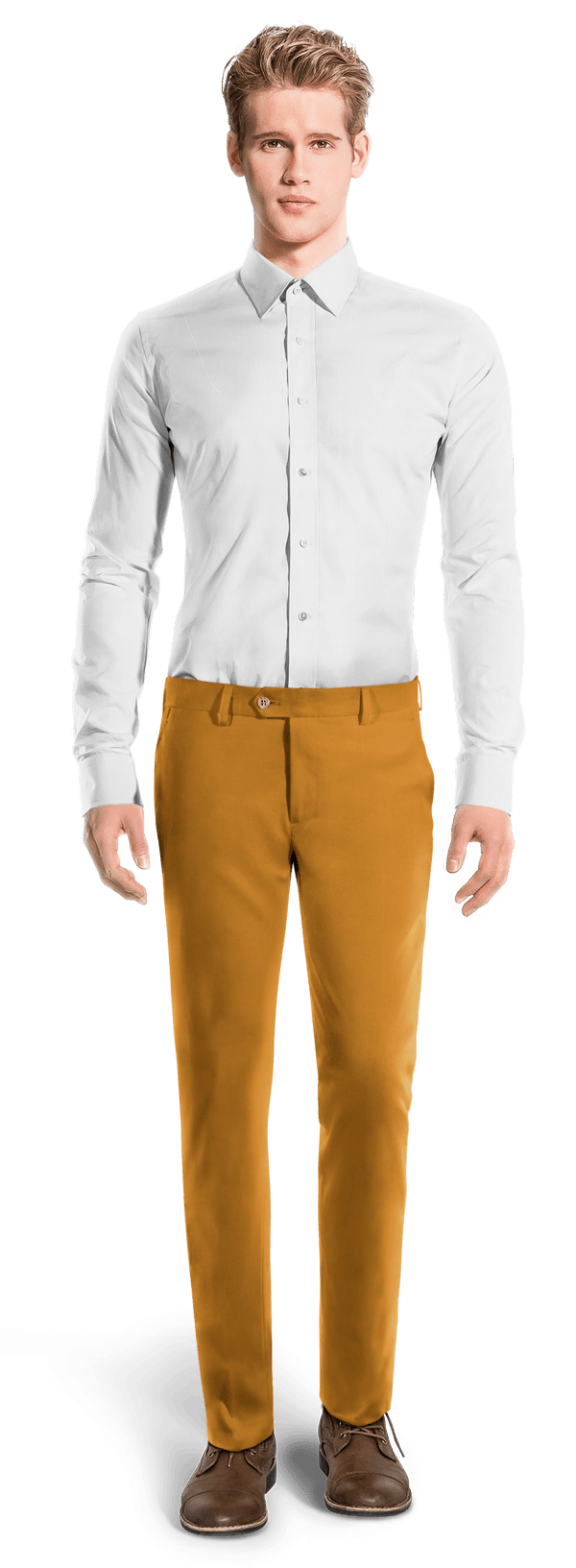 Yellow slim fit Chinos