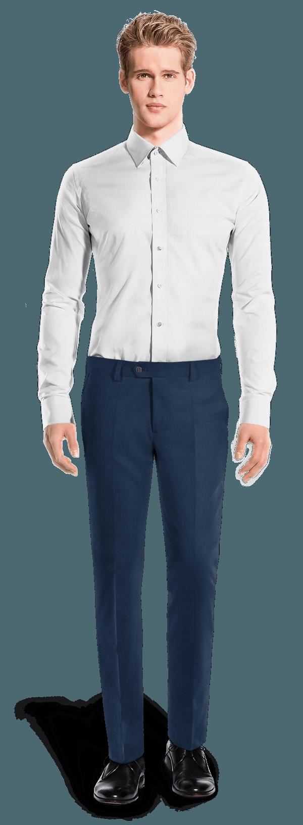 Pantaloni chino slim fit blu