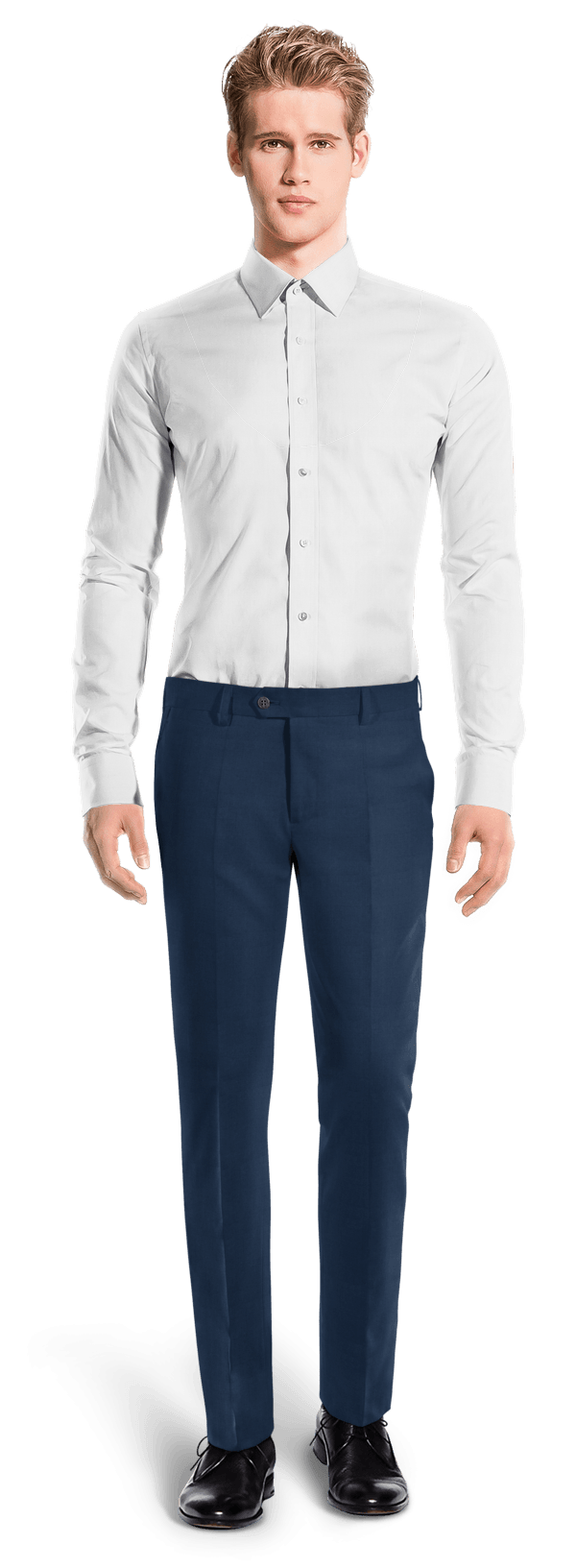 Blue slim fit Chinos