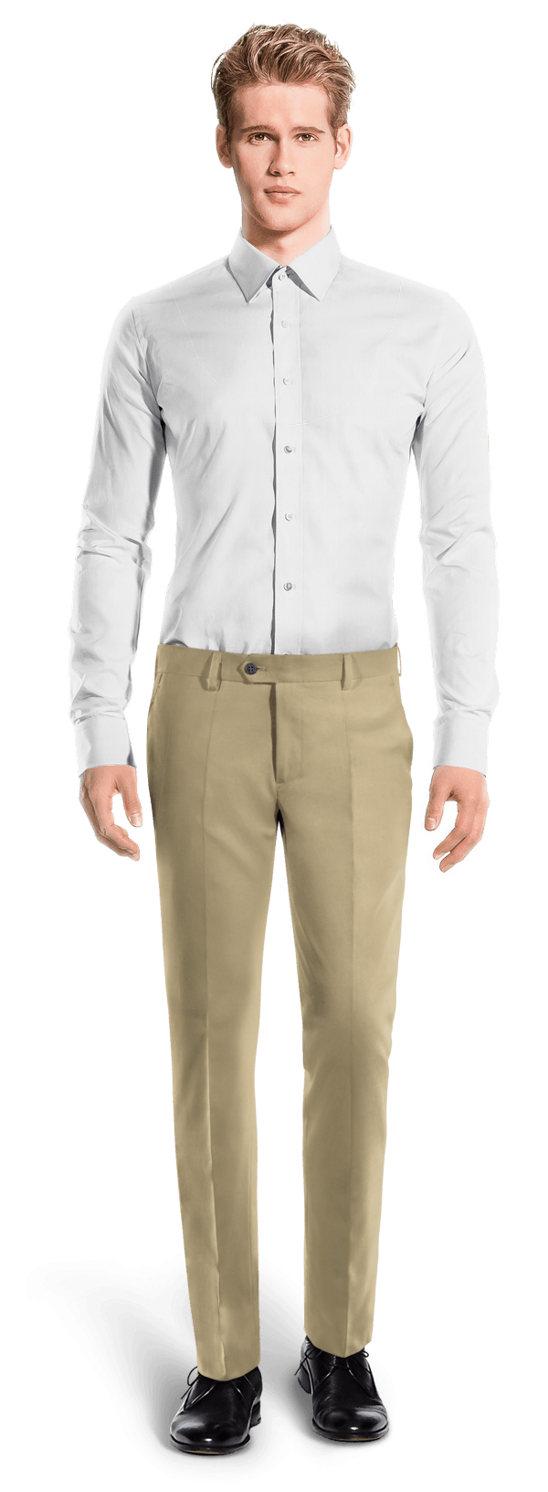 Chino marron de corte slim