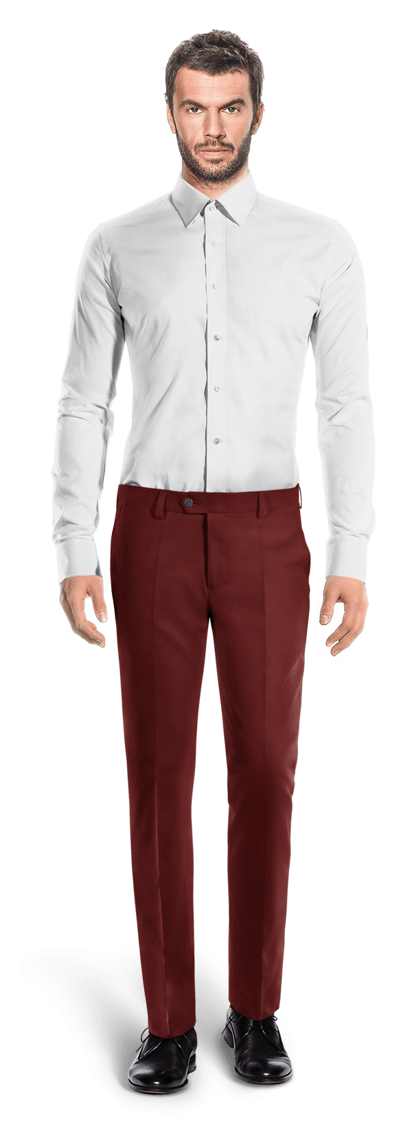 Chino rouge coupe cintrée
