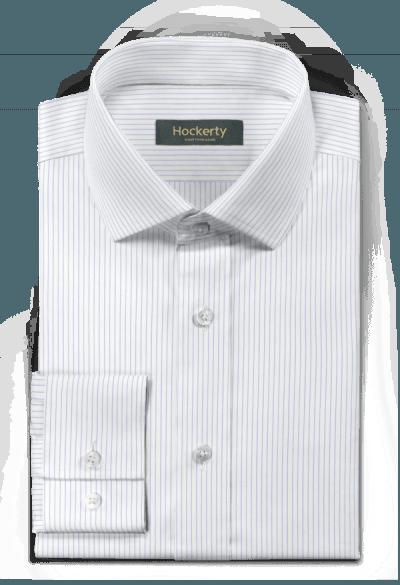 Weißes gestreiftes Hemd aus Baumwolle
