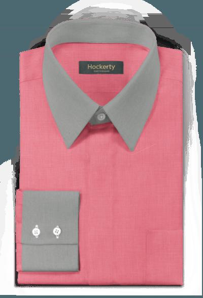 Pinkes Hemd aus Baumwolle
