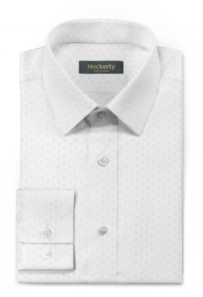 White micropattern 100% cotton Shirt