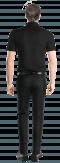 Chemise noire manches courtes 100% coton-Vue Dos