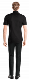 Black short sleeved linen Shirt-View Back