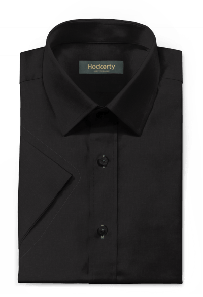 Black short sleeved linen Shirt