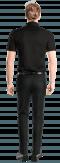 Chemise noire manches courtes-Vue Dos