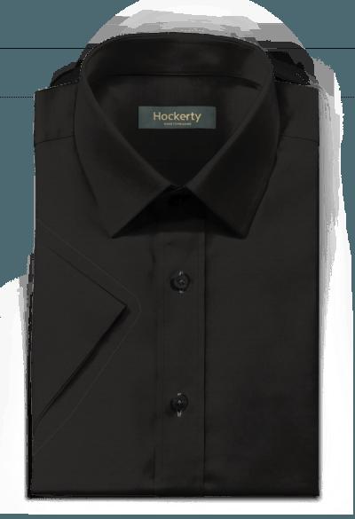 Camicia a maniche corte nera