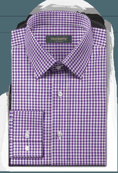 Purple checked 100% cotton Shirt