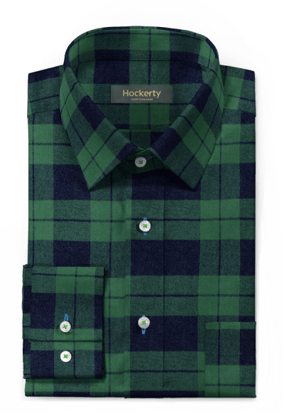 Green flannel checked Shirt