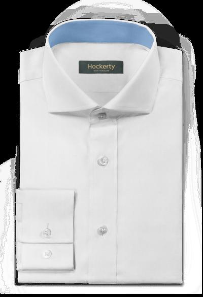 2 Bottoni Polsino Camicia in una semplice Cotone Bianco Oxford Colletto classico