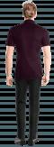 красная рубашка с коротким рукавом-Вид сзади