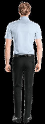 Blue short sleeved 100% cotton Shirt-View Back